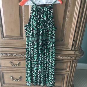 CUTE! INC Leopard print Halter Dress 0X